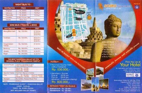 contoh brosur iklan travel agen wisata brosur