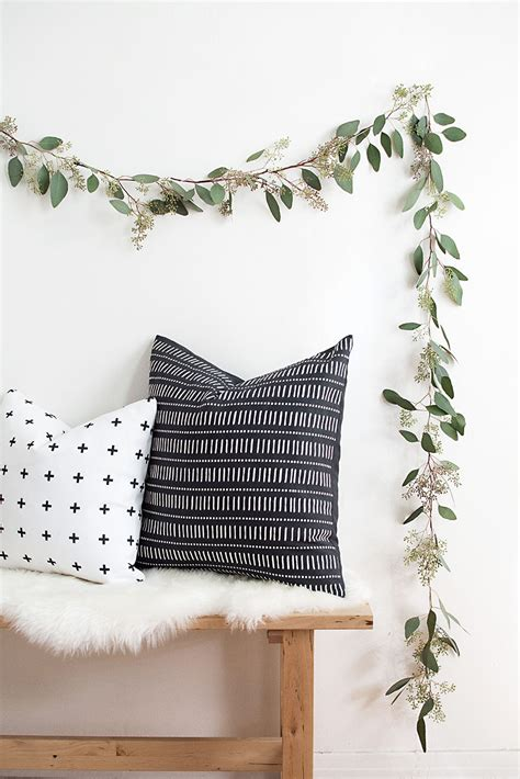 diy decorations garland diy eucalyptus garland homey oh my
