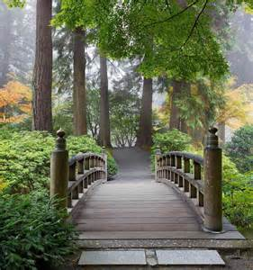 Japanese Wall Murals Wooden Foot Bridge In A Japanese Garden Wall Mural 7 5
