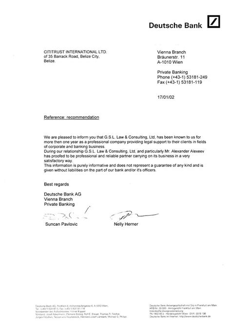 gsl bank gsl of companies banking letters letter