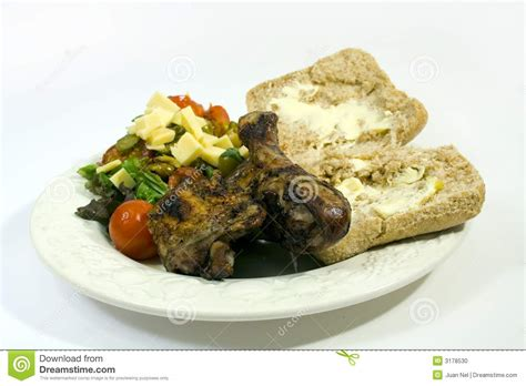 barbecue chicken and sides stock photo image 3178530