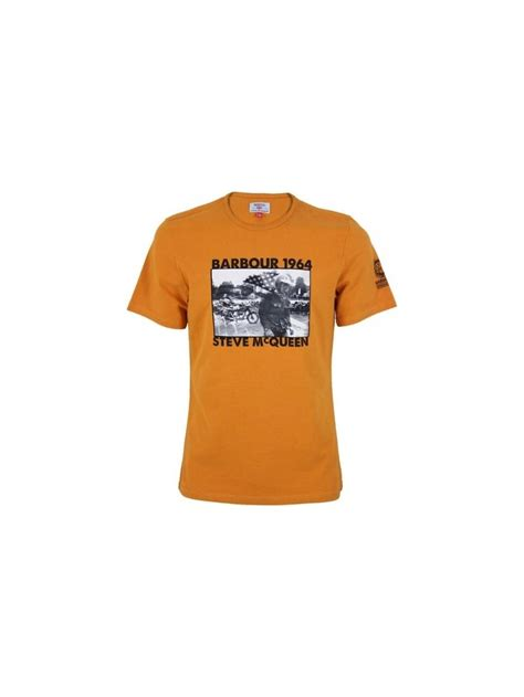 pursuit boats t shirts barbour steve mcqueen pursuit t shirt in amber northern