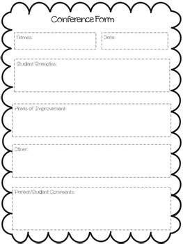 printable parent teacher conference worksheet
