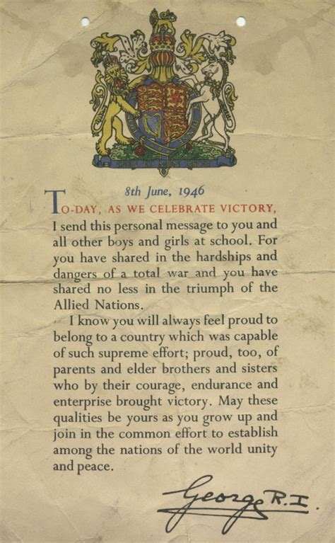 up letter to king george exle letter from king george vi to school children