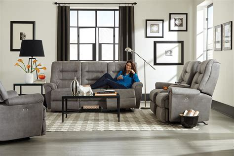Best Home Furnishings Langston Casual Reclining Sofa With Automotive Inspired