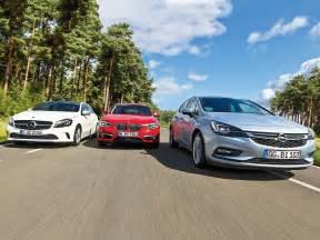 Versicherung Auto 1er Bmw by Opel Astra K Bmw 1er A Klasse 220 D Vergleich