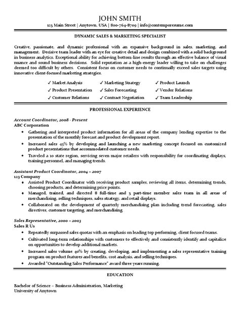 Sales And Marketing Specialist Sle Resume by Marketing Specialist Resume Sales Specialist 28 Images Marketing Resume Sles For Successful