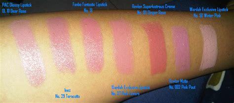 Harga Lipstik Inez No 2 racun warna warni swatch pink lipstick