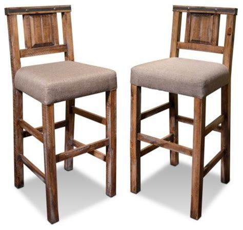 high back wooden bar stools rustic reclaimed solid wood counter high bar chair with