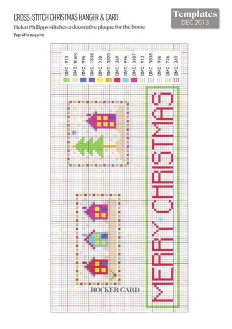 cross stitch card templates cross stitched hanger and card free card