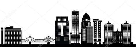 Louisville Ky Skyline Outline by Louisville Skyline America City Stock Vector 169 Compuinfoto 52607429