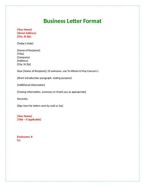 business letter template attention best 25 official letter format ideas on