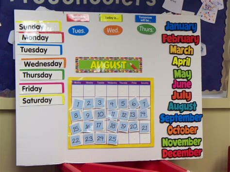 calendar template for bulletin board classroom calander teach preschool trifold board
