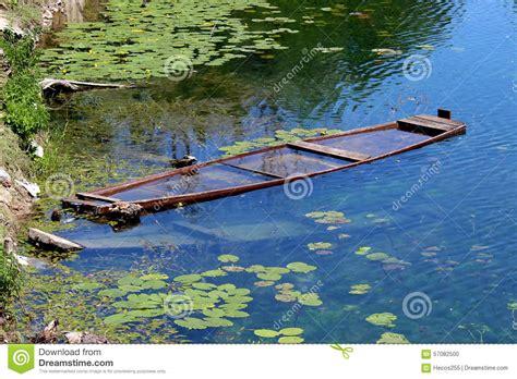 sunken river boats sunken wooden river boat stock photo image 57082500