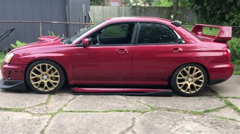 burgundy subaru wrx 2004 subaru impreza wrx sti 400 hp wrapped burgundy