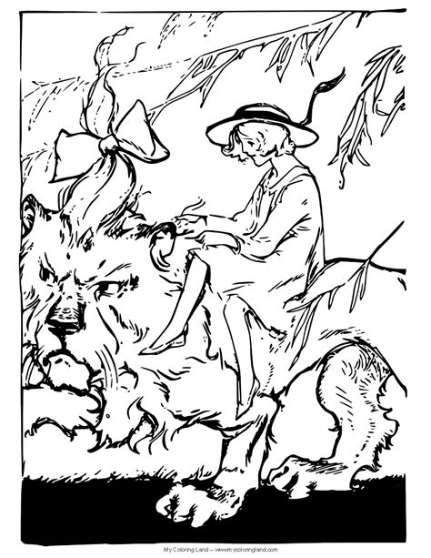 cowardly lion coloring pages the cowardly lion is crying in wizard of oz coloring page