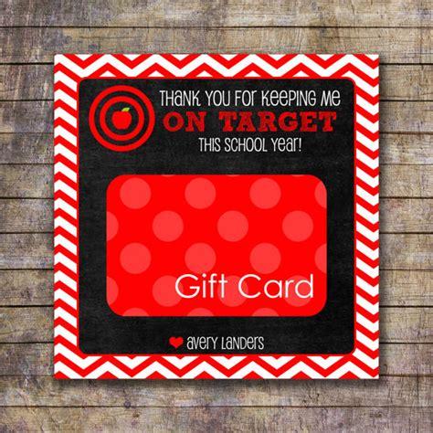 Target Gift Card Teacher Appreciation - printable on target teacher appreciation gift card holder