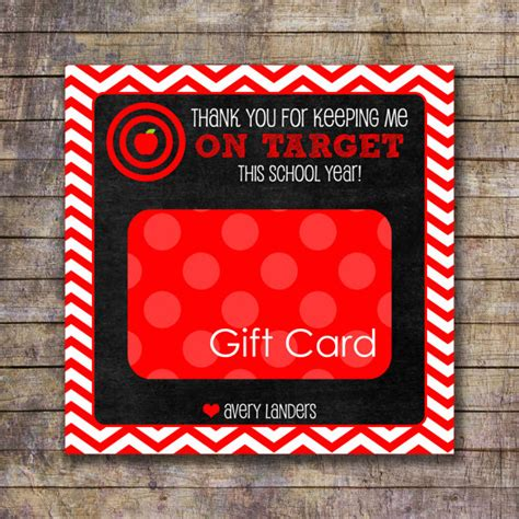 Etsy Gift Card Target - printable on target teacher appreciation gift card holder
