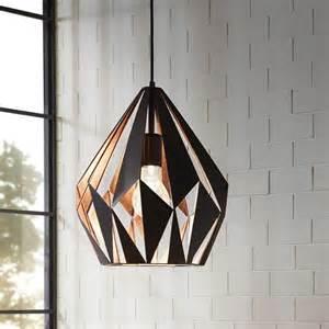 suspension luminaire plafond acier look vintage design