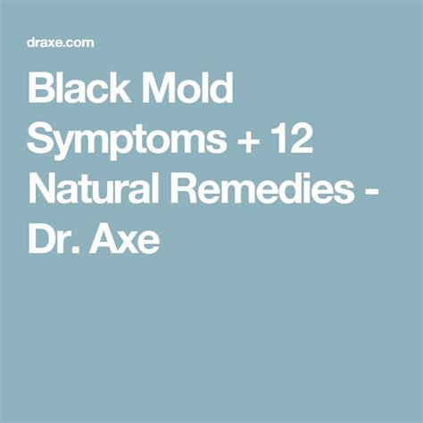 Supplements To Detox Mold Exposure by Best 25 Black Mold Symptoms Ideas On Mold