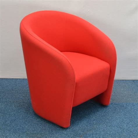 Used Office Chairs For Sale Lf Red Fabric Tub Chair