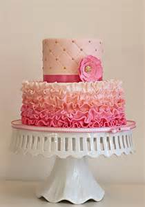 pinker kuchen pink ombre ruffles the couture cakery