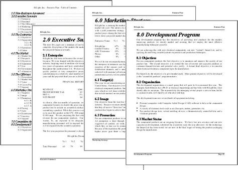 business plan format business plan software format of business plan