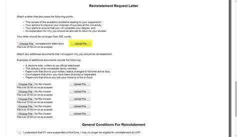 reinstatement letter reinstatement request from academic suspension uwf