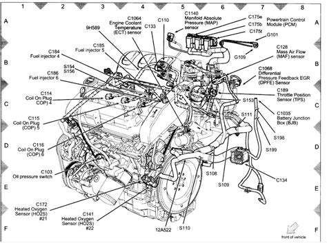 engine diagram for a 3 0 v6 2004 ford escape engine