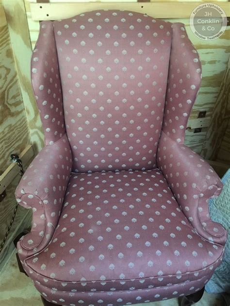 nj upholstery cost to re upholster a wing chair