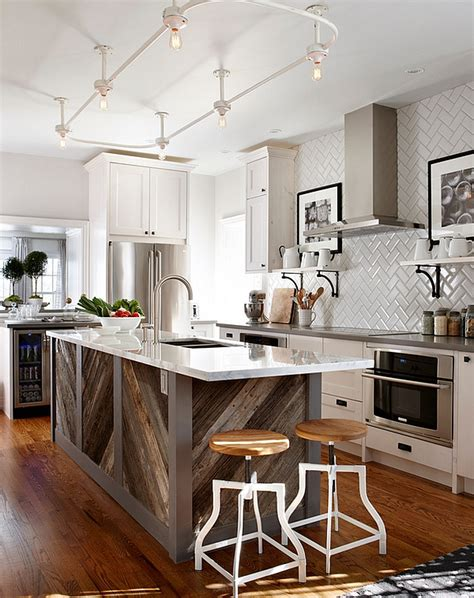 adding a kitchen island zigzag patterns in kitchen chevron and herringbone