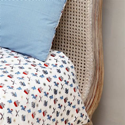 pirate single and cot duvet cover set by em lu