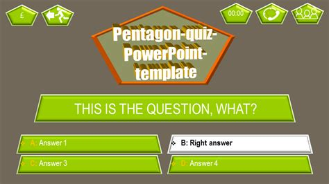 quiz theme ppt powerpoint quiz template pentagon ppt themes