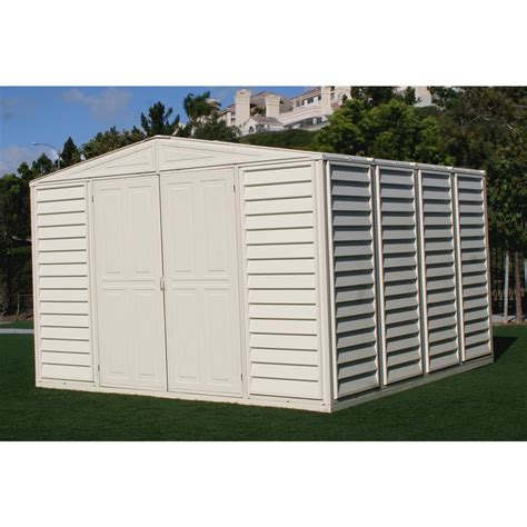 Duramax Plastic Shed by Duramax 10x10 Woodbridge Vinyl Shed 130907 Sheds At Sportsman S Guide