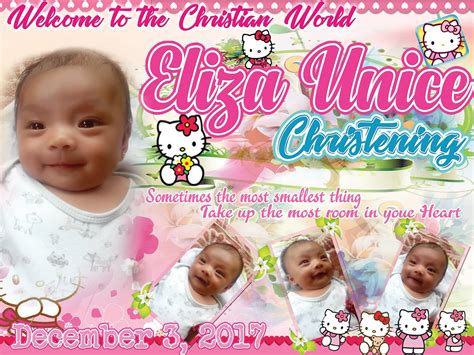 tarpaulin layout design for christening hello kitty tarpaulin design for christening get layout
