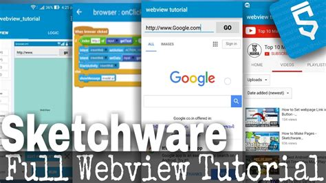 tutorial webview webview tutorial load webpages in app sketchware