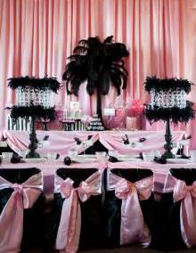 Pink And Black Birthday Decorations by Inspiration A Birthdays Pink Black And