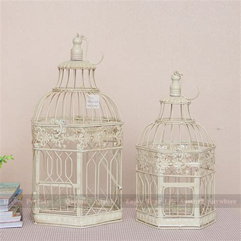 birdcage home decor set of 2 large wedding decoration bird cage distressed