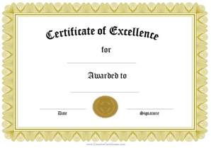 Free Printable Blank Award Certificate Templates by Formal Award Certificate Templates Blank Certificates