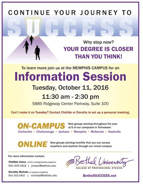 Nichols Mba Tuition by Information Session Bethel