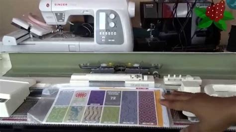 set up knitting setting up the sk280 punchcard knitting machine 0m2 fcp7jd4