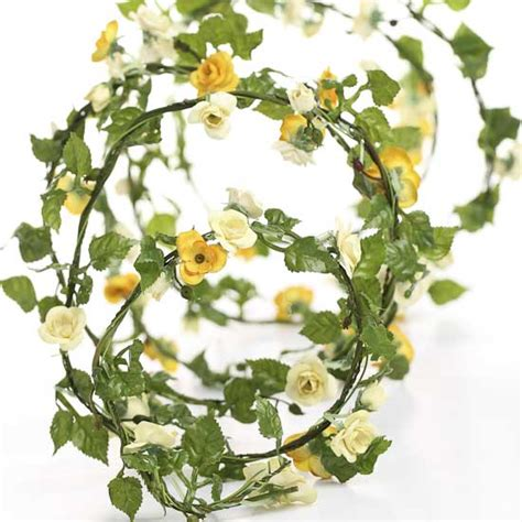 6 ft dollhouse 6 ft mini yellow roses roping garland what s new