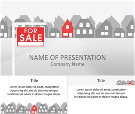 Real Estate Powerpoint Template Templateswise Com Property Presentation Template
