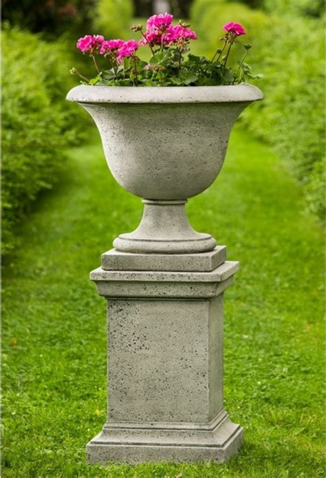 Pedestal Garden Planters by Cania International Fairfield Urn Planter With Pedestal