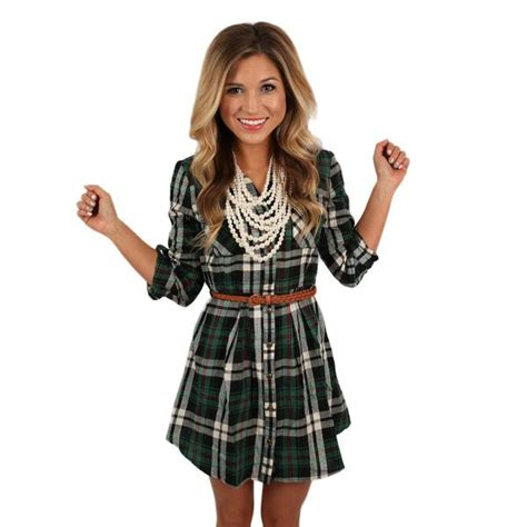 southern comfort boutique southern comfort flannel dress in green impressions