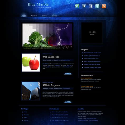 download qlikview themes templates template 316 blue marble