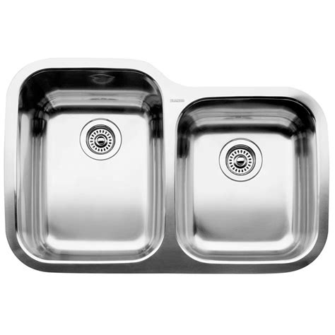 stainless steel undermount sink home depot blanco 1 3 4 bowl undermount stainless steel kitchen sink