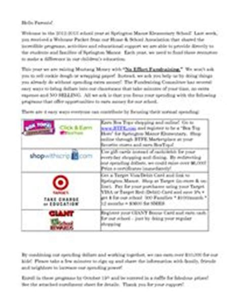 Fundraising Parent Letter 1000 Images About Pta On Box Tops Education