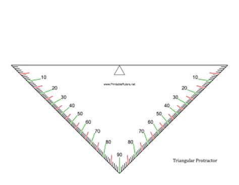 printable protractor with centimeter ruler triangle protractor printable ruler