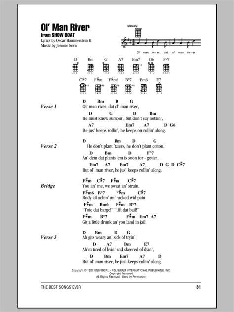 strumming pattern simple man jerome kern ol man river ukulele with strumming